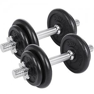 SONGMICS-Lot-de-2-Haltres-Courts-en-Fonte-20-kg-30-kg-40-kg-50-kg-60-kg-2-x-10-kg-2-x15-kg-2-x-20-kg-2-x-25-kg-2-x-30-kg-SYL20T-0