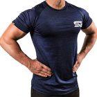 Satire-Gym-T-Shirt-Fitness-pour-Homme-vtement-de-Sport-Fonctionnel-Parfait-pour-Le-Sport-Les-entranements-Slim-fit-Bleu-Marine-chin-XXL-0