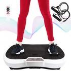 Todeco-Plateforme-Vibrante-et-Oscillante-Machine-avec-Vibrations-Dimensions-69-x-39-x-13-cm-Matriau-Plastique-Blanc-180-Niveaux-Tlcommande-Bandes-de-resistances-et-Tapis-de-Yoga-0