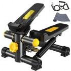 Vinteky-Stepper-2-en-1-Mini-Stepper-avec-cran-Multifonctions-et-Cordes-lastiques-Poids-support-jusqu-100kg-Noir-Jaune-0