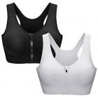 ZOEREA-Soutien-Gorge-de-Sport-Femme-Zippe-Devant-Push-Up-sans-Armature-Lingerie-Bra-Courir-Vest-Coussinets-Amovibles-pour-Fitness-Jogging-Yoga-Course-Noir-Blanc-M-0